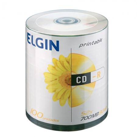 CD-R ELGIN Midia 700MB / 80 MIN / 52X Pino 100 (printable)