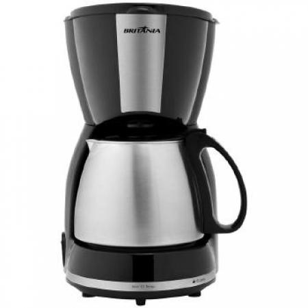 Cefeteira 15 Cafes Jarra INOX Britania - 063901063 PRETO/INOX 110 VOLTS