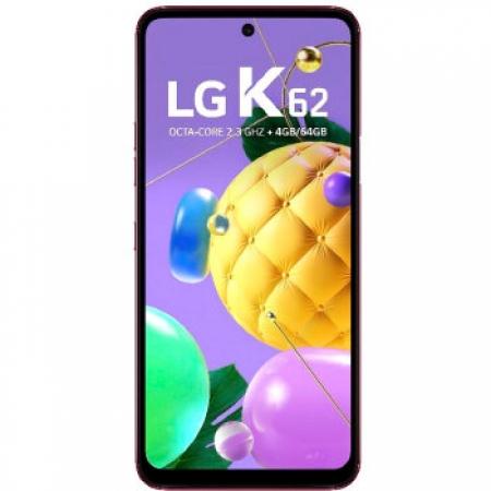 Celular LG K-62 4/64GB Dual - LMK520BMW.ABRARDVERMELHOQUADRIBAND