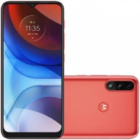 Celular Motorola Moto E-7 Power 32GB XT-2097 Dual - PAMG0001BR Vermelho Quadriband