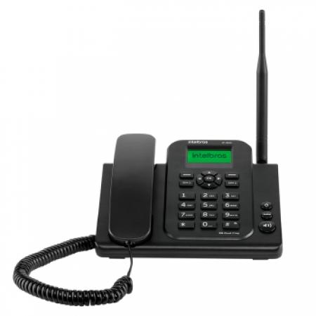 Celular Rural Intelbras CF-4202N 2G S/KIT QUAD-BAN - 4114203 Preto Quadriband