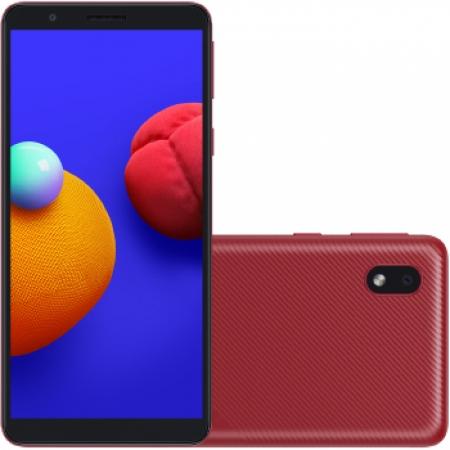 Celular Samsung Galaxy A-013 32GB Dual - SM-A013MZRSZTO Vermelho Quadriband
