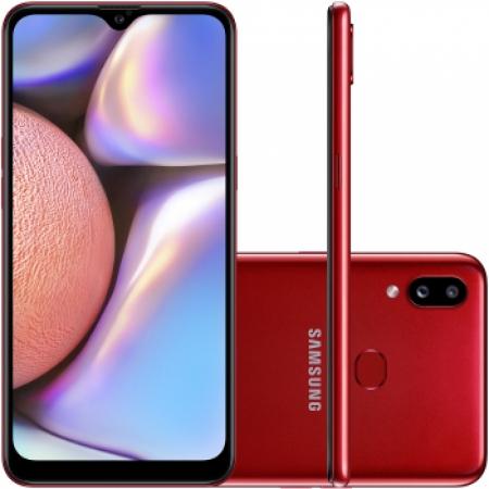 Celular Samsung Galaxy A-10-S 32GB Dual  - SM-A107MZRRZTO Vermelho Quadriband