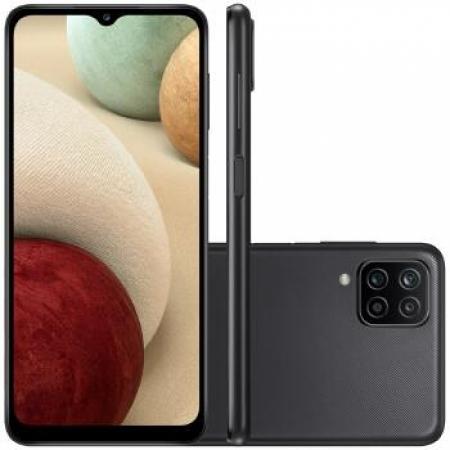 Celular Samsung Galaxy A-12 64GB Dual - SM-A125MZKSZTO Preto Quadriband