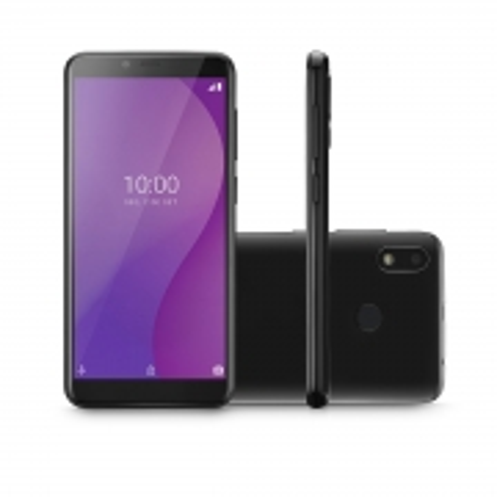 Celular Smartphone Multi G 4G 32GB Tela 5.5  OCTA Core Sensor de Digitais P9132 Preto