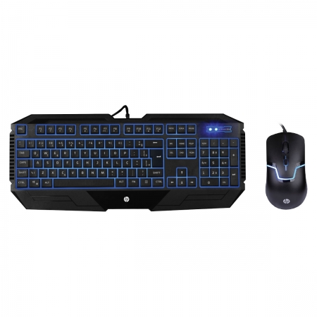 Combo Teclado & Mouse HP Gamer - GK1100 BLACK