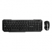 Combo Wireless C3TECH Teclado & Mouse 2.4GHZ Business K-W40BK