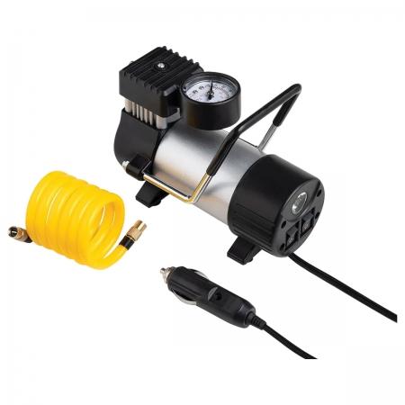Compressor de AR Automotivo 12V Vazao 20L/MIN Pressao de 100PSI C/ 3 Bicos - AU616