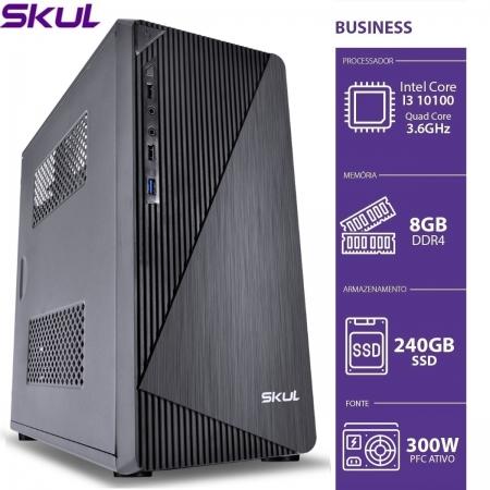 Computador Business B300 - I3 10100 3.6GHZ 10AGER MEM 8GB DDR4 SSD 240GB HDMI/VGA Fonte 300W