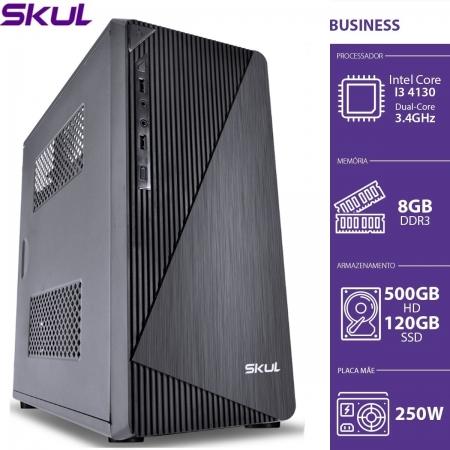 Computador Business B300 - I3 4130 3.4GHZ 8GB DDR3 SSD 120GB HD 500GB HDMI/VGA Fonte 250W