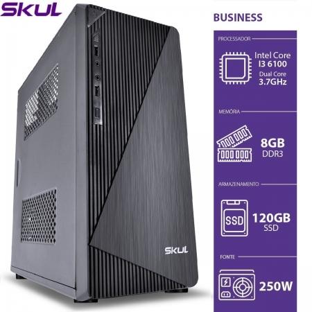 Computador Business B300 - I3 6100 3.7GHZ 8GB DDR3 SSD 120GB HDMI/VGA Fonte 250W