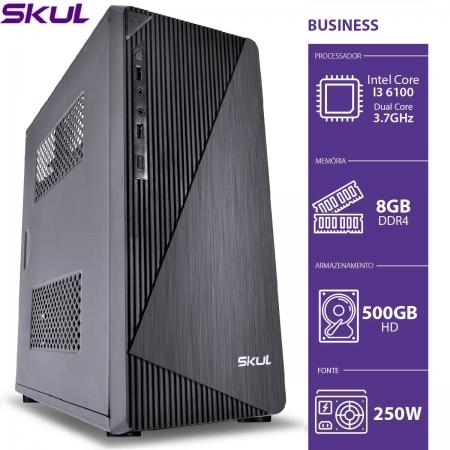 Computador Business B300 - I3 6100 3.7GHZ 8GB DDR4 HD 500GB HDMI/VGA Fonte 250W