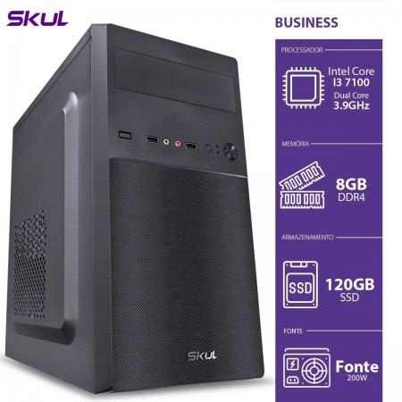 Computador Business B300 - I3 7100 3.9GHZ 8GB DDR4 SSD 120GB HDMI/VGA Fonte 200W