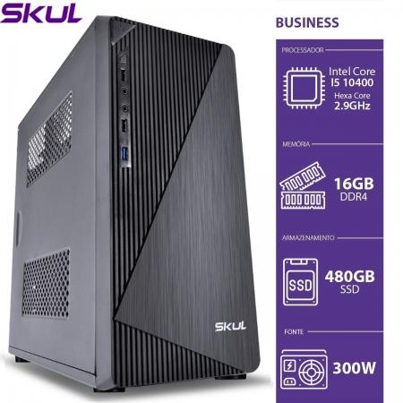 Computador Business B500 - I5 10400 2.9GHZ 16GB DDR4 SSD 480GB HDMI/VGA Fonte 300W