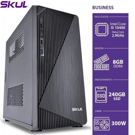 Computador Business B500 - I5 10400 2.9GHZ 8GB DDR4 SSD 240GB HDMI/VGA Fonte 300W