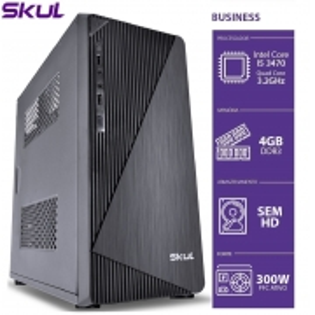Computador Business B500 - I5 3470 3.2GHZ 3AGER MEM 4GB DDR3 sem HD/SSD HDMI/VGA Fonte 300W