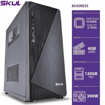 Computador Business B500 - I5 6400 2.7GHZ 6AGER MEM. 4GB DDR3 SSD 120GB Fonte 300W