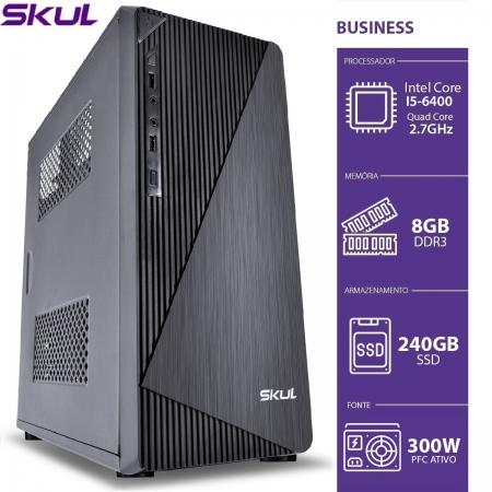 Computador Business B500 - I5 6400 2.7GHZ MEM. 8GB DDR3 SSD 240GB Fonte 300W