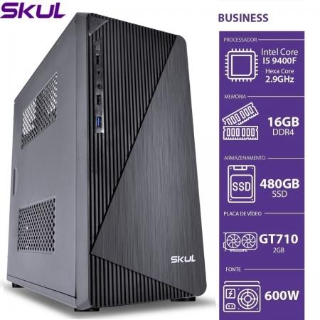 Computador Business B500 - I5 9400F 2.9GHZ 16GB DDR4 SSD 480GB HDMI/VGA GT710 2GB Fonte 600W 80 PLUS White sem PPB