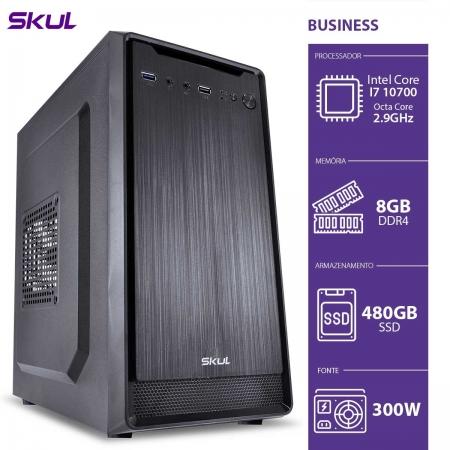 Computador Business B700 - I7 10700 2.9GHZ MEM 8GB DDR4 SSD 480GB HDMI/VGA Fonte 300W