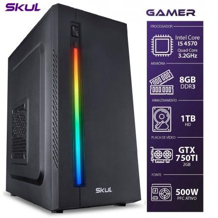 Computador Gamer 5000 - I5 4570 3.2GHZ 8GB DDR3 HD 1TB GTX750TI 2GB Fonte 500W