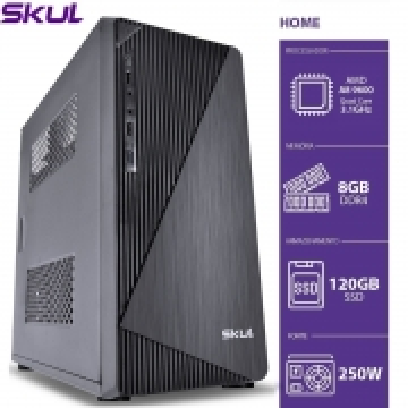 Computador Home H200 - AMD A8 9600 3.1GHZ 8GB DDR4 SSD 120GB HDMI/VGA Fonte 250W