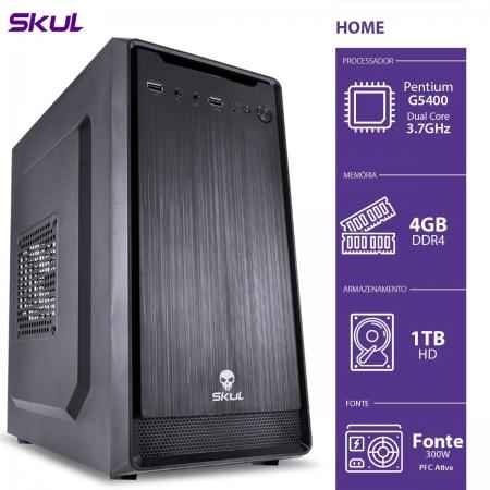 Computador Home H200 - Pentium Dual Core G5400 3.7GHZ 4GB DDR4 HD 1TB HDMI/VGA Fonte 300W PFC Ativo