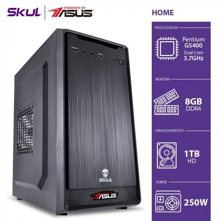 Computador Home H200 Powered BY ASUS - Pentium Dual Core G5400 3.7GHZ MEM 8GB DDR4 HD 1TB HDMI/VGA Fonte 250W