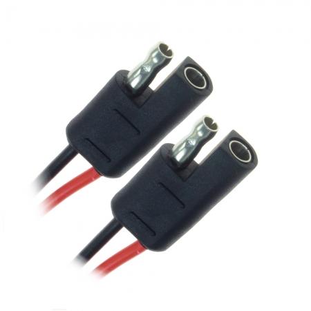 Conector EVUS 35/Z 2 Vias com Fio 1MM Preto MACHO/ Femea C-039