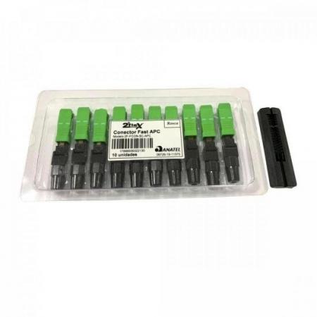 Conector FAST SC/APC SM P/ Fibra Optica - Verde