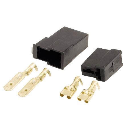 Conector Permak 2 Vias Quadrado com Terminais KIT 4 Pecas (embalagem com 10 KITS)