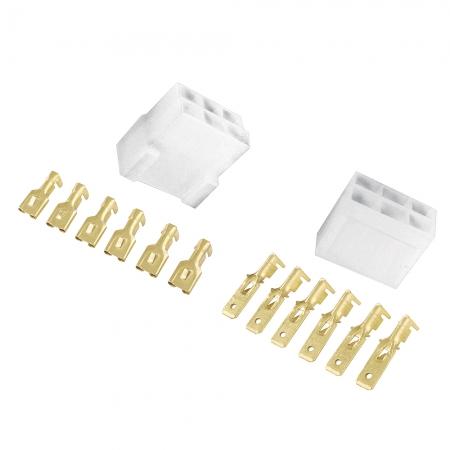 Conector Permak 6 Vias com Terminais KIT 4 Pecas (embalagem com 10 KITS)