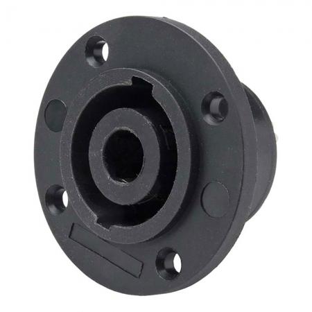 Conector Speakon Femea 4 Polos Painel JCSP0002 Preto STORM