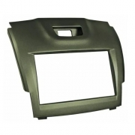 Contra Frente Plastica Permak S10 Nova 2 DIN Preta