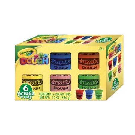 Crayola Massa de Modelar com 6 Cores Sortidas 56G Indicado para +3 ANOS Multikids