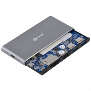 Docking Station SSD M.2 + HUB TYPE C Tipo C 2 USB 3.0 + HDMI + Leitor de Cartao SD TF + Power Delivery (PD) 100W DSM-5C