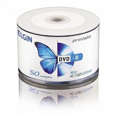 Elgin Midia DVD-R 4,7GB / 120 MIN / 16X BULK 50 ( Printable)