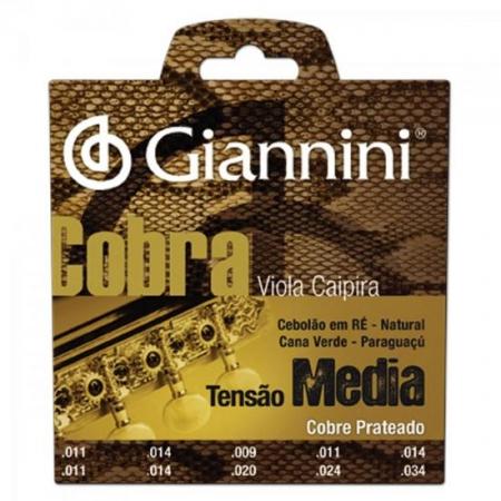 Encordoamento para Viola GESVM Serie Cobra ACO Media Giannini