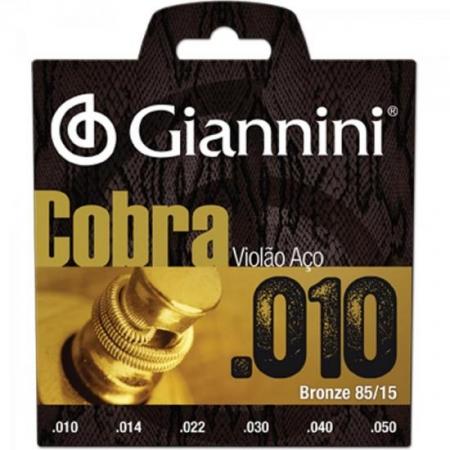Encordoamento para Violao Geefle Serie Cobra ACO 0.10 Giannini