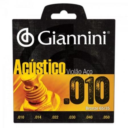 Encordoamento para Violao Geswam Serie Acustico ACO 0.10 Giannini
