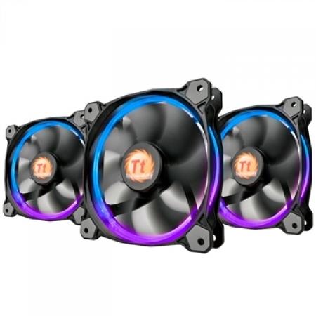 Fan Cooler Thermaltake RING Radiator FAN 256 com 3 LED SWITCH -