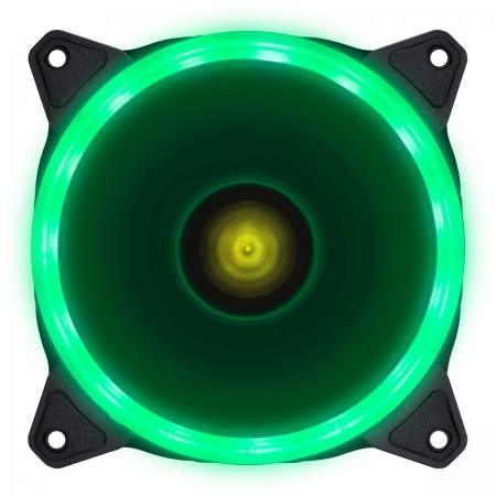 FAN/COOLER VX Gaming para Gabinete V.RING ANEL de LED 120X120MM Verde