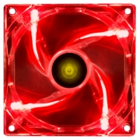 FAN/COOLER VX Gaming V.LIGHT 4 Pontos de LED 120X120 Vermelho