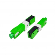 Fast Connector SC/APC com CLIP e Trava Verde