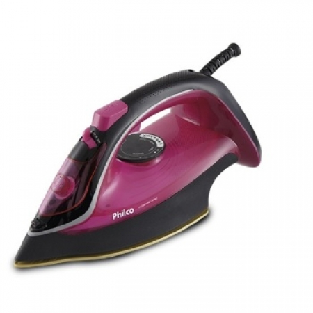 Ferro a Vapor Philco 2200R Nano Ceramic - 053601030 ROSA/PRETO 110 VOLTS