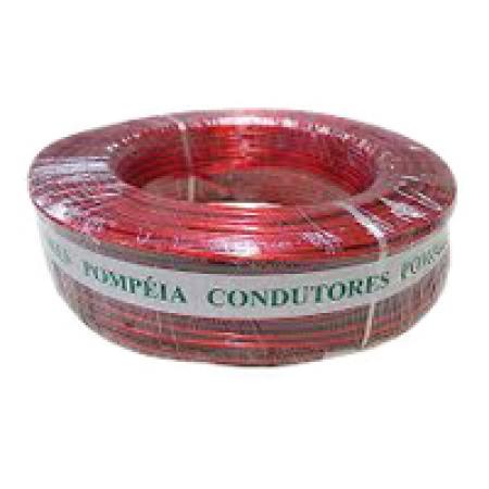 Fio Cabinho Auto Plastic Pompeia 1,00 MM 300V Rolo com 100 Metros Vermelho