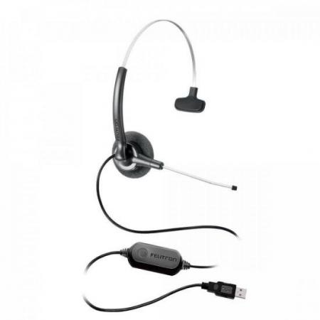 Fone Headset Stile Compact Voip SLIM Preto Felitron