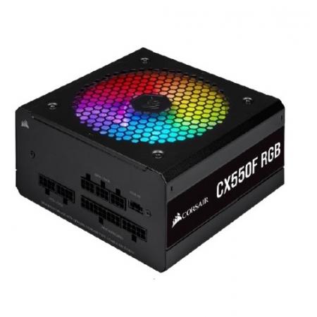 Fonte ATX 550W-CX550F FULL MODULAR-RGB BLACK-80 PLUS BRONZE-COM Cabo de FORCA-CP-9020216-BR
