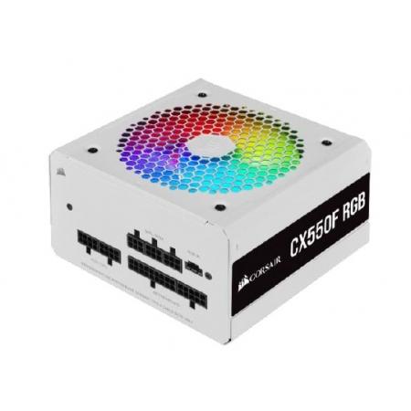 Fonte ATX 550W - CX550F FULL Modular - RGB White - 80 PLUS Bronze - com Cabo de Forca - CP-9020225-BR
