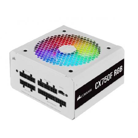 Fonte ATX 750W - CX750F FULL Modular - RGB White - 80 PLUS Bronze - com Cabo de Forca - CP-9020227-BR